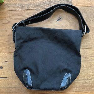 Black Coach shoulder purse